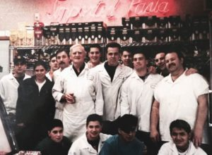 CEO Bobby Brannigan (bottom row, left) growing up in his fathers' NYC grocery store. Brannigan took process he developed for his father's store and combined them with what he learned from his first startup to create Mercato to help independent grocery stores compete online.