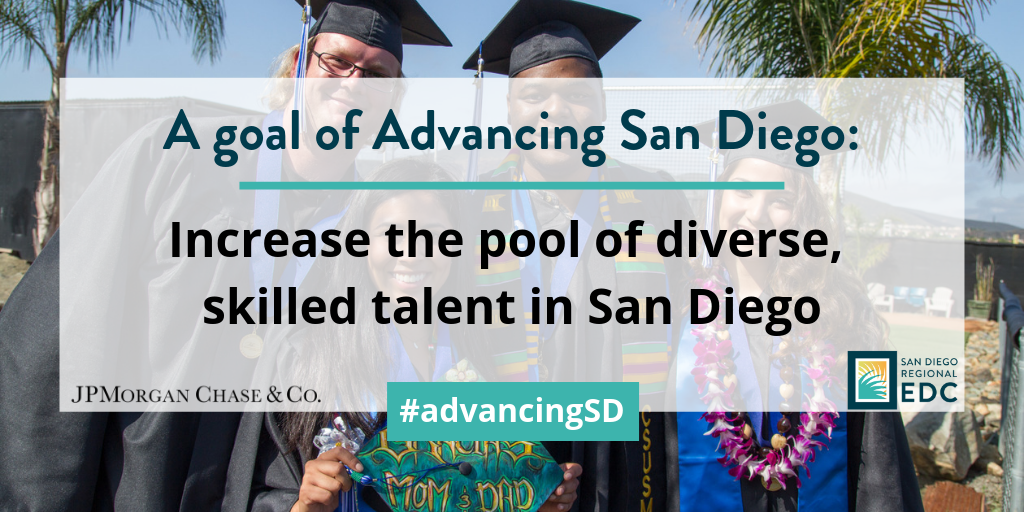 A goal of advancing San Diego: Increase the pool of diverse, skilled talent in San Diego